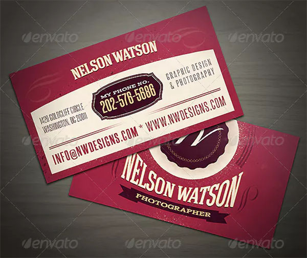 Vintage Business Card Templates