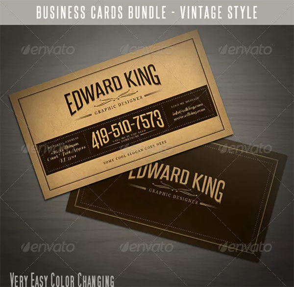 Vintage Business Cards Bundle