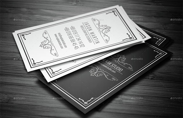 Vintage Business Visiting Card Template