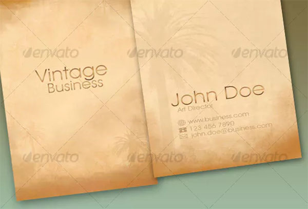 Vintage PSD Business Card Template Design