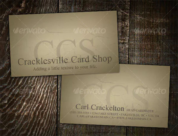 Vintage PSD Business Card Template