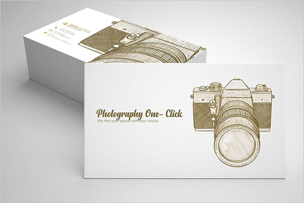 Vintage Retro Photography Business Card