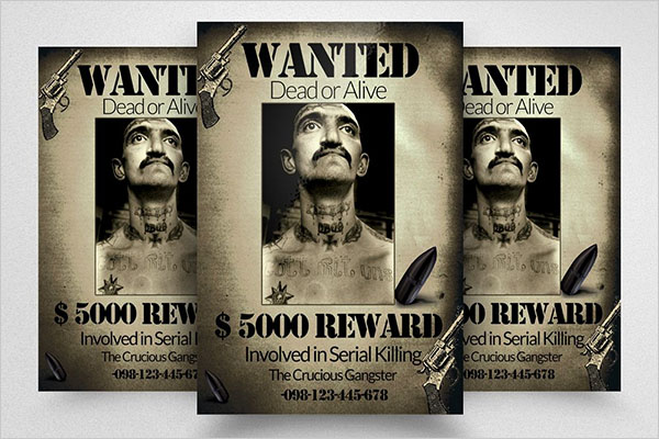 Vintage Wanted Poster and Flyer Template