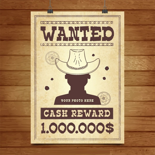 Wanted Free PSD Poster Template