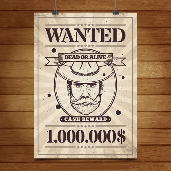 Wanted Poster Free PSD Template