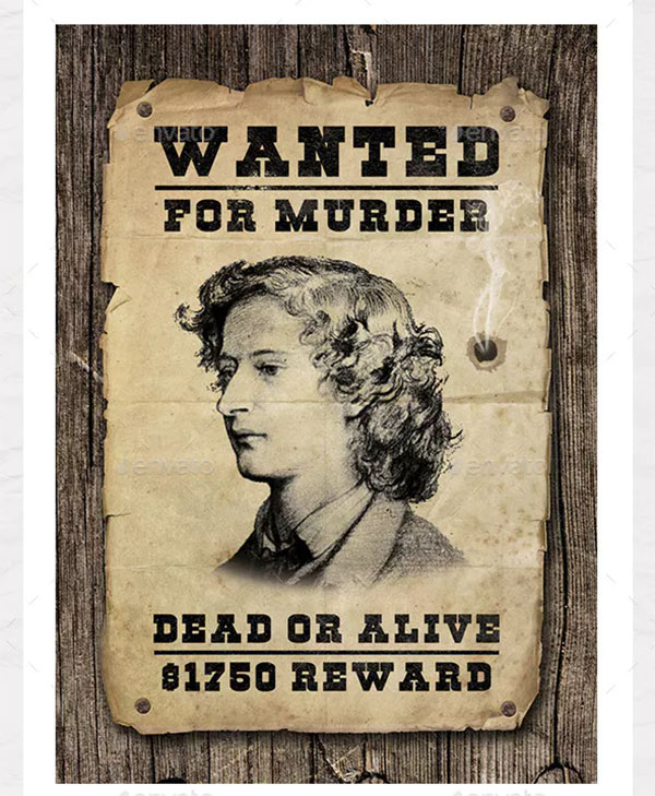 Wanted Poster Graphic Your Own