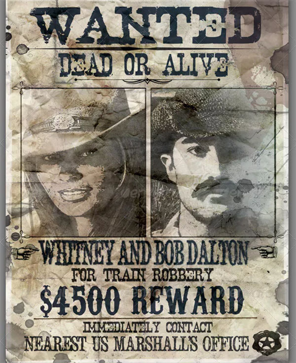 Wanted Poster Singles and Couples