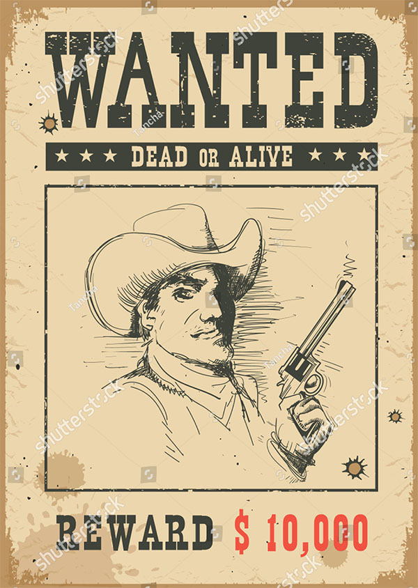 Wanted Poster Vector Background