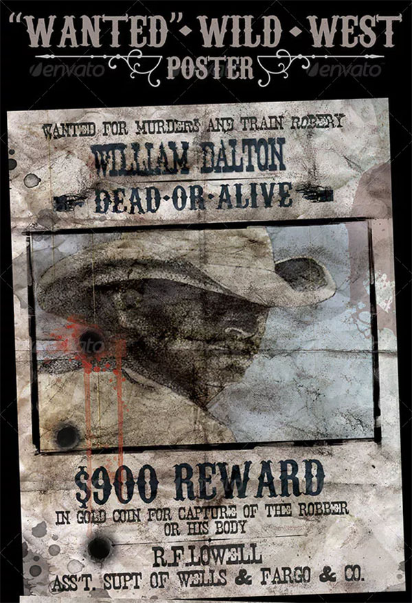 Wanted Poster Wild West Style