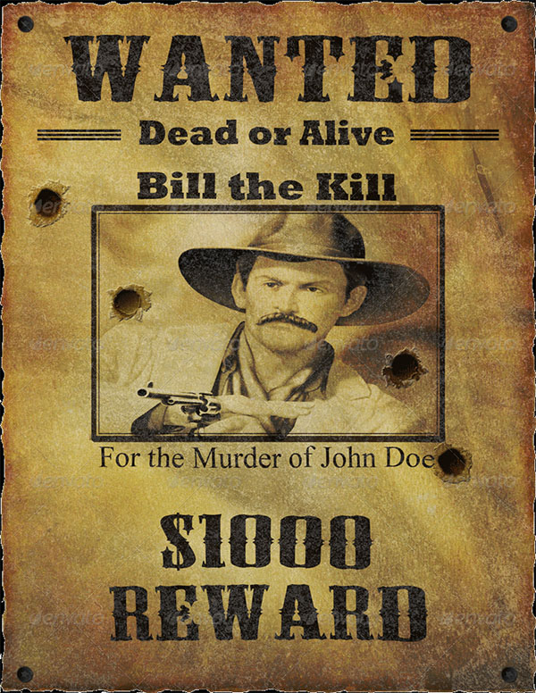 Wanted Poster and Mock Up