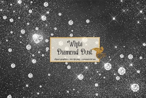 White Diamond Dust Photoshop Overlays