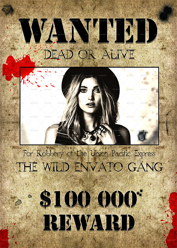 Wild West Style Wanted Flyer and Poster