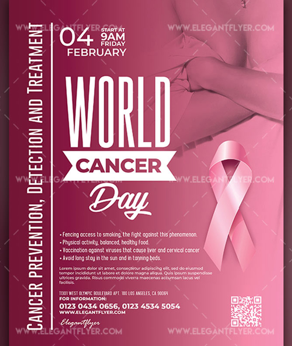 World Cancer Day Free Flyer Template