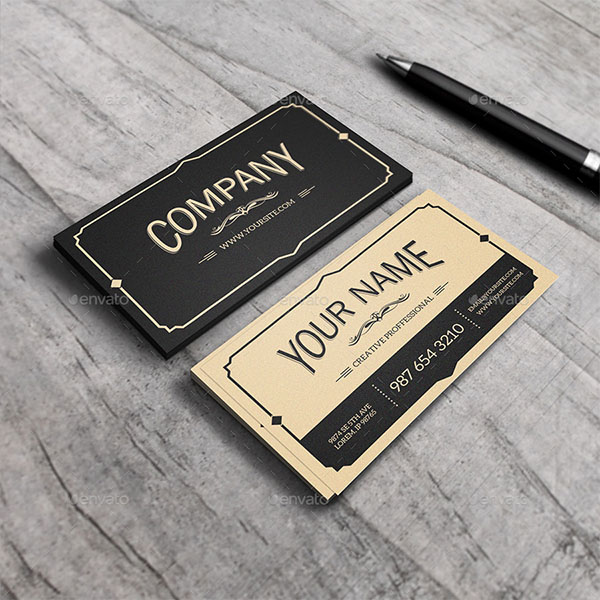 Yukon Vintage Business Card Template
