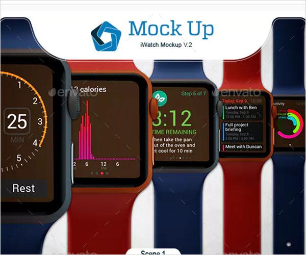 iWatch Mockup Design