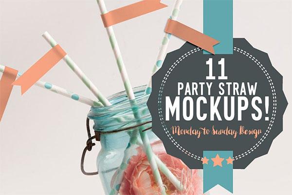 11 Cute Straw Flag Mockups