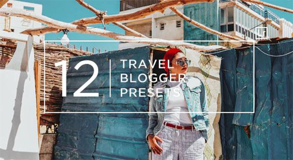 12 Travel Blogger Lightroom Presets