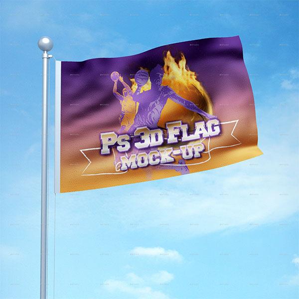 3D Flag Mockup