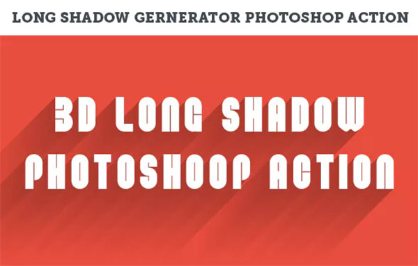 3D Long Shadows Generator Photoshop Action Set