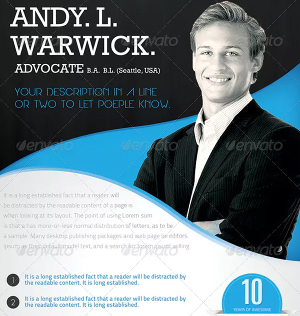 Advocate Flyer Template