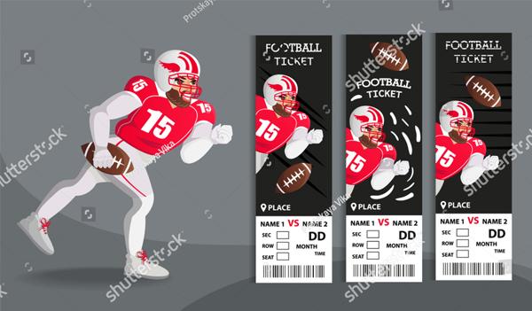 American Football Design Tickets
