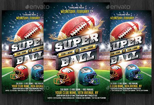 American Football Flyer Ticket Templates