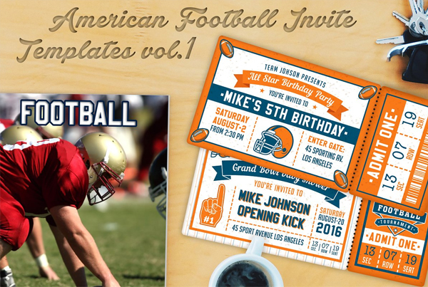American Football Invite Templates