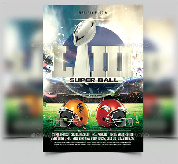 American Football PSD Flyer Design