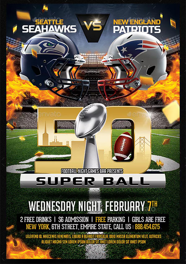 American Football PSD Flyer