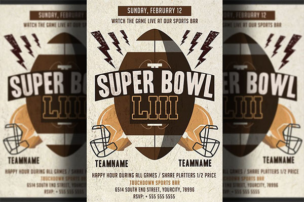 American Football Super bowl Flyer