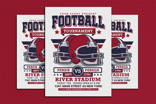 American Football Tournament Flyer