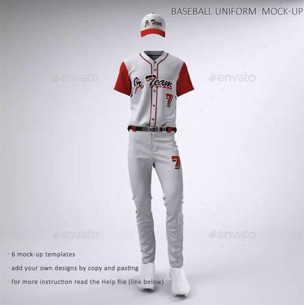 Baseball Team Jerseys and Uniform Mock-up