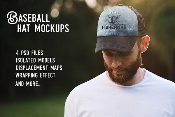 Baseball hat mock up