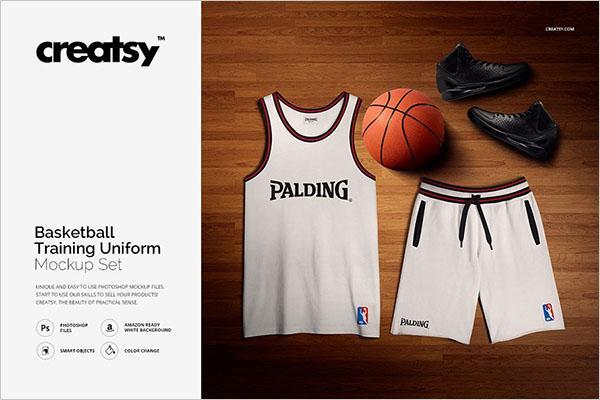Basketball Training Uniform Mockup