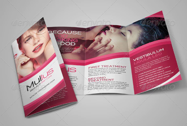 Beauty Care Trifold Printable Template
