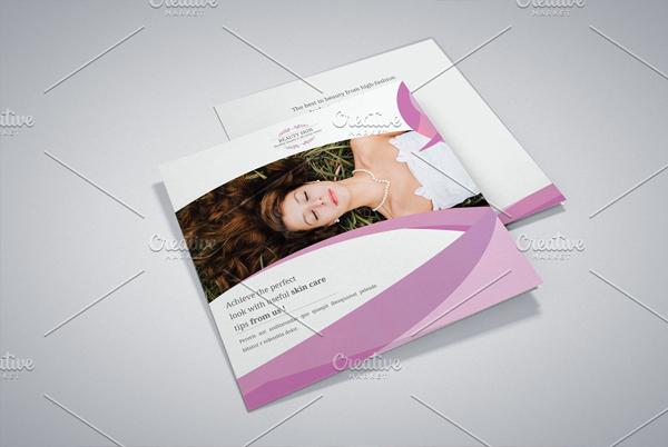 Beauty Salon Square Trifold Brochure