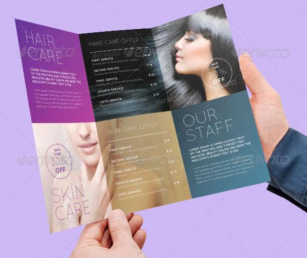 Beauty Skin Salon Special Offer Tri-Fold Brochure