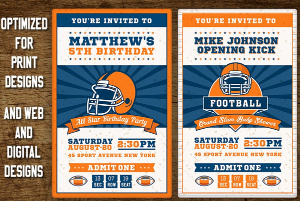Best Football Ticket Party Template