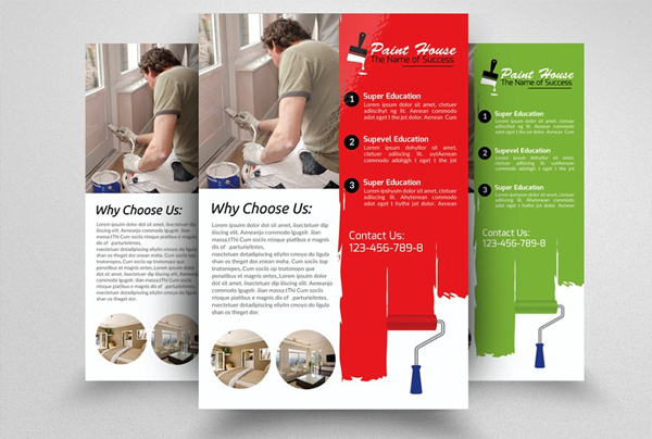Best House Paint Contractor Flyer Template