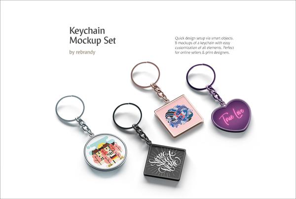 Best Keychain Mockups Set