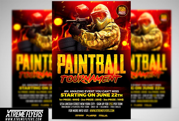 Best Paintball Flyer Template