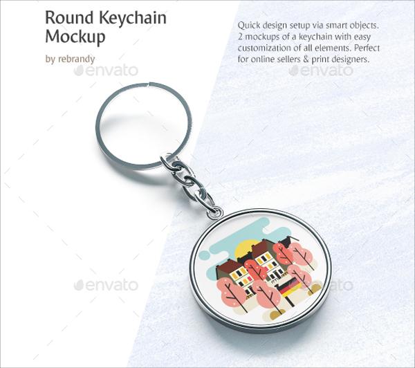 Best Round Keychain Mockup