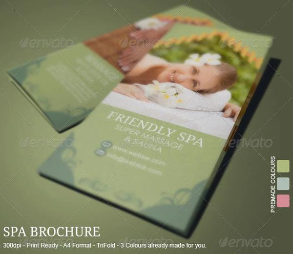 Best Spa Skin Care Brochure Template