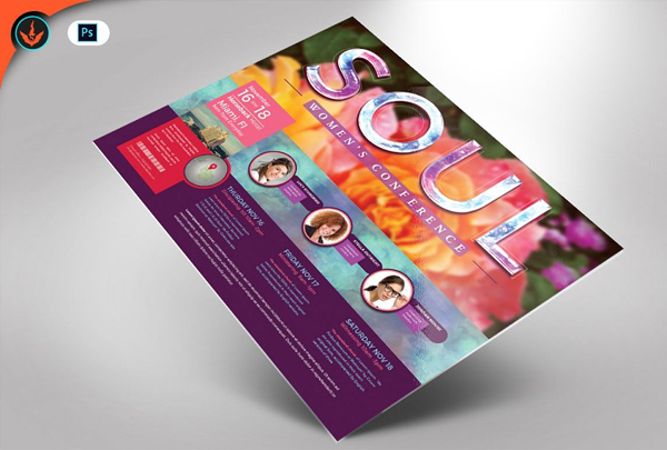 Best Women's Conference Flyer Template