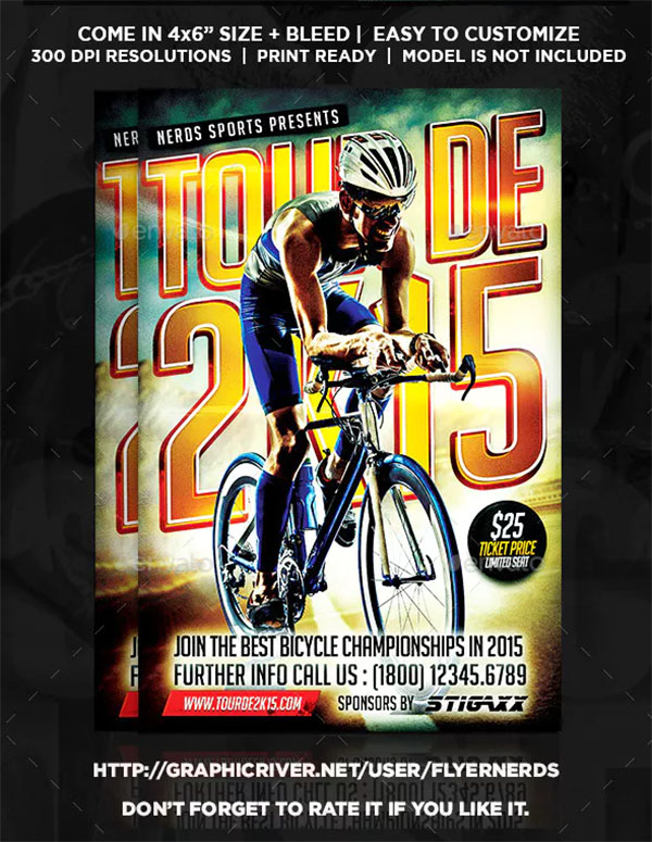 Bicycle Championships Sports Flyer