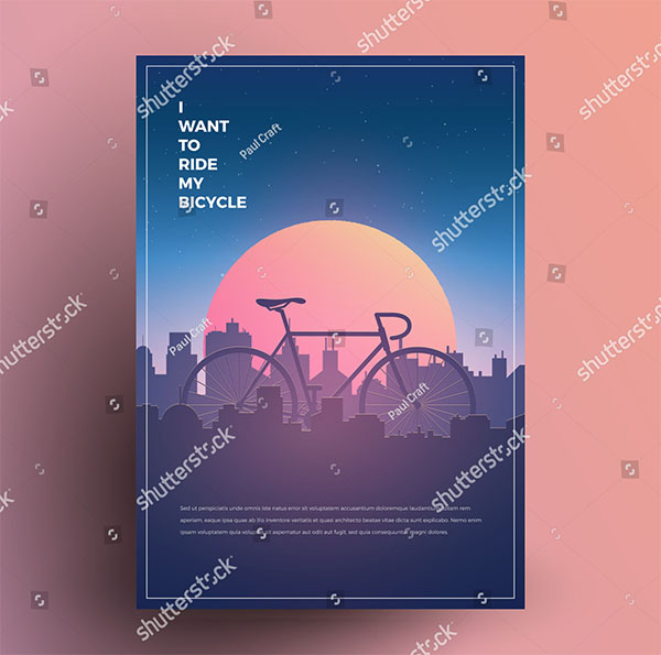 Bicycle Modern Minimalist Vector Flyer