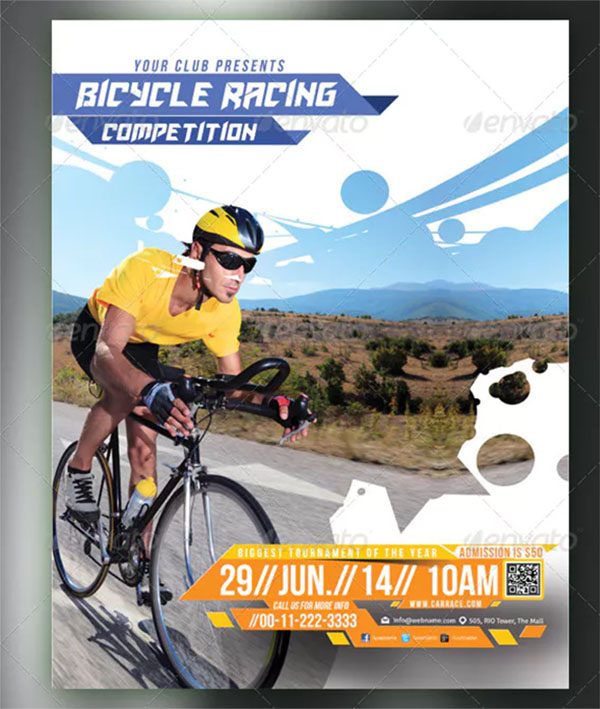 Bicycle Racing Competitions Flyer
