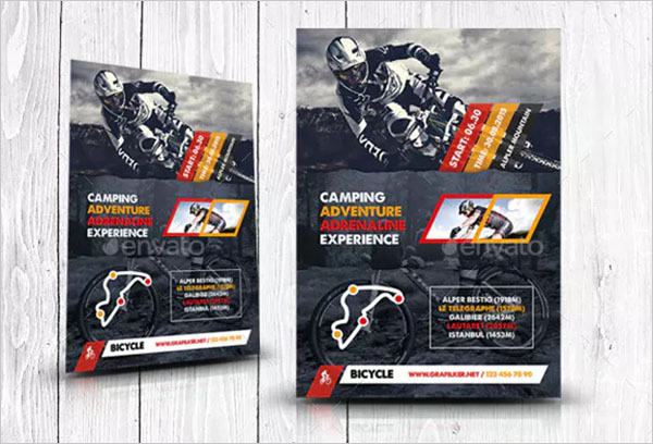 Bicycle Racing Flyer PSD Templates