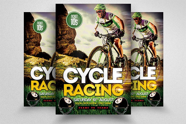 Bicycle Racing Flyer Template Design