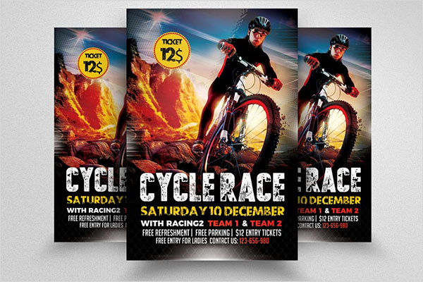Bicycle Racing Flyer Template Designs
